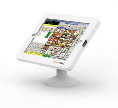 armourdog® secure tablet POS kiosk with swivel mount for iPad 10.2 in white